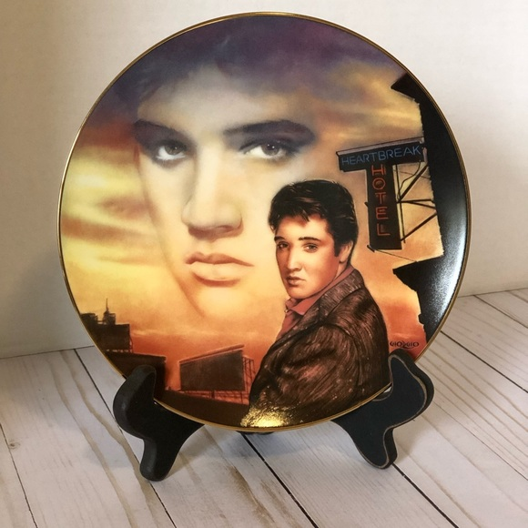 Elvis Presley Heartbreak Hotel Collector's Plate